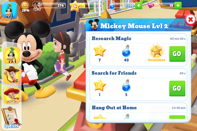 Disney Magic Kingdoms Tasks
