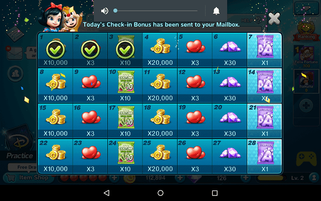 Check-in Bonuses