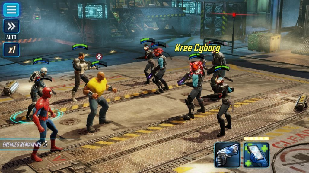 Marvel Strike Force has intense turn-based battles