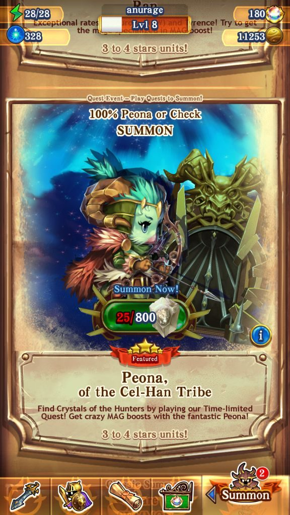 Peona Quest Event
